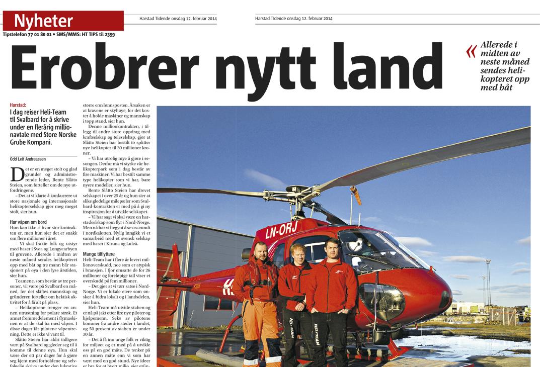 Faksimile: Harstad Tidende